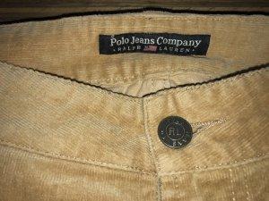 Lauren Jeans Co. Ralph Lauren Corduroy broek zandig bruin