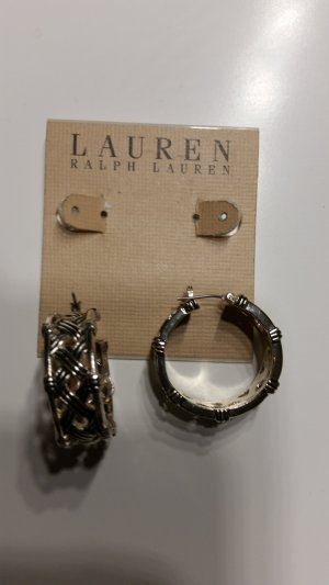 Lauren by Ralph Lauren Ear Hoops silver-colored stainless steel