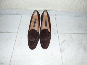 Ralph Lauren Damen College Schuhe Pumps dunkelbraun Wildleder Gr. 7,5 / EU 38