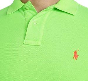 RALPH LAUREN Damen Poloshirt - Gr. XXL - Classic Fit - SMALL PONY - Grün - Shirt