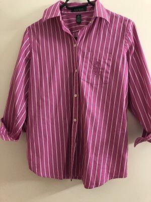 Ralph Lauren Damen Rosa Weiß Gestreiftes Hemd Top Bluse Größe S,