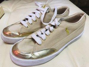 Ralph Lauren Damen Schuhe Beige Gold 40