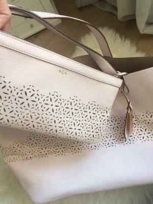Ralph Lauren Damen Tasche Inkl. Clutch Rosa, Innenfarbe: Gold