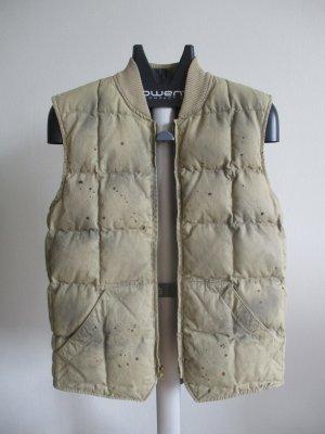 Denim & Supply Ralph Lauren Gilet en fourrure beige clair-ocre coton