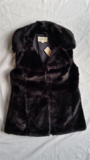 Denim & Supply Ralph Lauren Vest van imitatiebont zwart Kunstbont