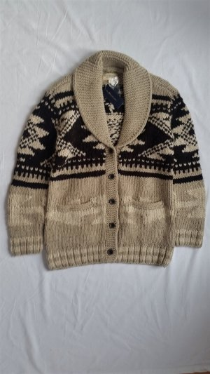 Ralph Lauren Denim & Supply, Strickjacke, braun-natur, hand knit, S, neu