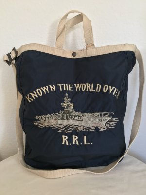 Ralph Lauren Double RL, Canvas Tote, blau, Nylon, neu