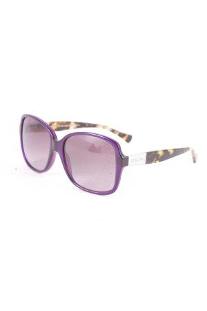 Ralph Lauren Hoekige zonnebril dierenprint straat-mode uitstraling