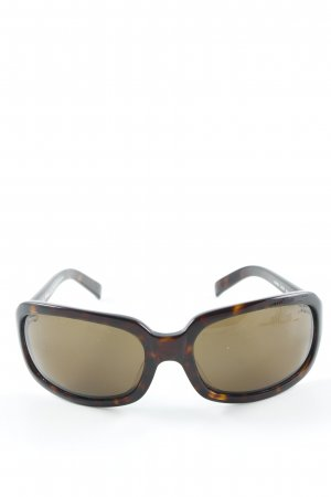 Ralph Lauren Angular Shaped Sunglasses black brown-sand brown casual look