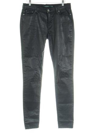 Ralph Lauren Pantalone cinque tasche nero stile da moda di strada