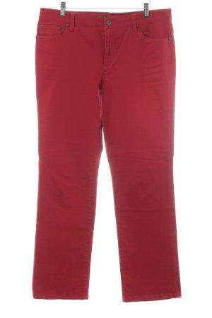 Ralph Lauren Pantalone cinque tasche rosso scuro stile da moda di strada