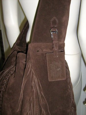 Ralph Lauren Fringe Hobo Bag / Gross Body Bag