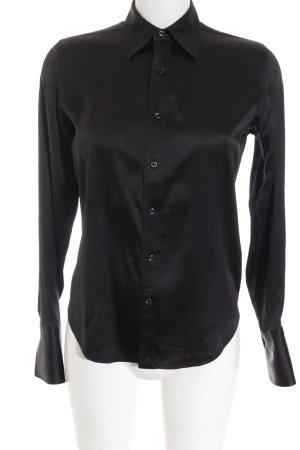 Ralph Lauren Glanzbluse schwarz Elegant