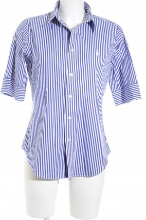 Ralph Lauren Golf Kurzarm-Bluse weiß-blau Streifenmuster Casual-Look