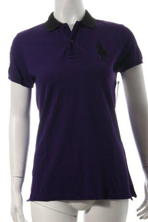 Ralph Lauren Golf Polo-Shirt schwarz-dunkelviolett sportlicher Stil
