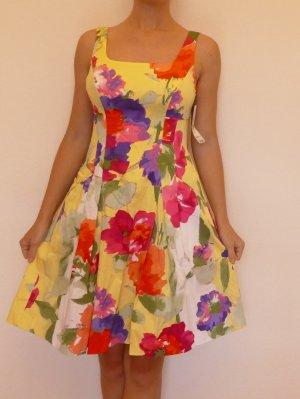 Ralph Lauren Gr 36(DE) 6(US) Sommer Kleid Blumen Bunt neu Etikett