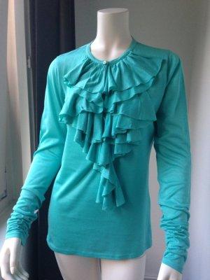 Ralph Lauren Ruffled Blouse turquoise