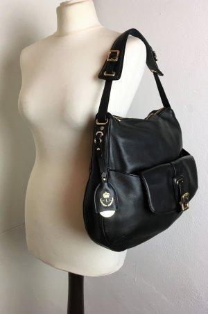 Ralph Lauren Shoulder Bag black-gold-colored leather