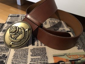 Lauren by Ralph Lauren Leather Belt brown-cognac-coloured