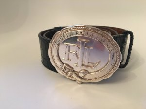 Ralph Lauren Gürtel *Leder*Reptiloptik*Schwarz*