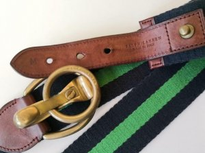 Lauren Jeans Co. Ralph Lauren Cintura in tessuto multicolore