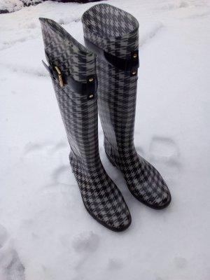 Ralph Lauren Gummistiefel elegant zeitlos Stiefel 39 Weiss Schwarz Regen Winter