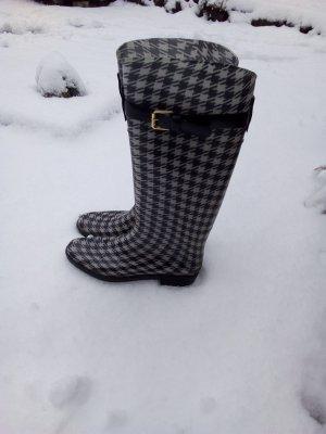 Ralph Lauren Gummistiefel elegant zeitlos Stiefel 8 39 Weiss Schwarz Harnentrit