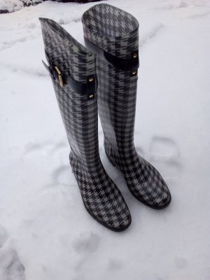 Lauren by Ralph Lauren Wellington laarzen wit-zwart