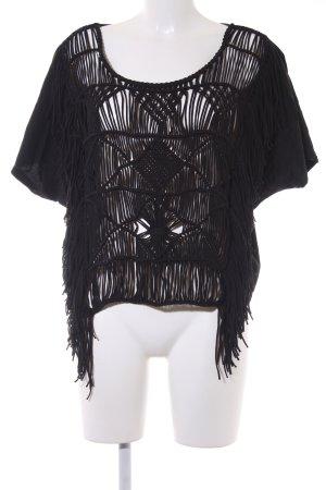 Ralph Lauren Gehaakt shirt zwart Beach-look