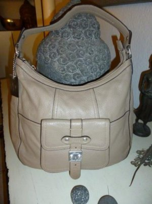 Ralph Lauren Carry Bag silver-colored-beige leather