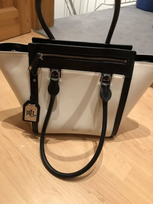 Lauren by Ralph Lauren Carry Bag natural white-black leather