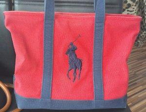 Ralph Lauren Bolso rojo oscuro-azul oscuro