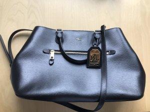 da985617e482c Ralph Lauren Handtasche Sabine Satchel schwarz aus Leder