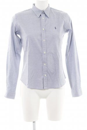 Ralph Lauren Hemd-Bluse blau meliert Business-Look