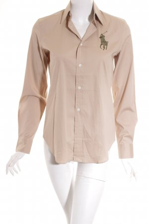 Ralph Lauren Hemd-Bluse beige-dunkelgrün Casual-Look