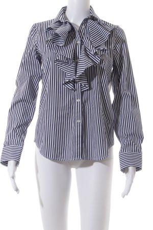 Ralph Lauren Hemd-Bluse dunkelblau-weiß Streifenmuster Casual-Look