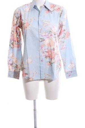Ralph Lauren Hemd-Bluse blau-rot Blumenmuster Business-Look