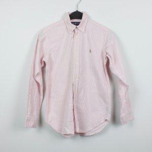 Ralph Lauren Hemd Bluse Gr. S rosa weiß gestreift (18/11/296/E/K)