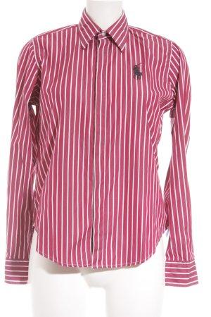 Ralph Lauren Hemd-Bluse weiß-dunkelrot Streifenmuster Casual-Look