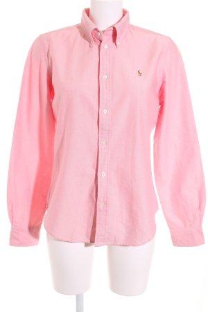 Ralph Lauren Hemd-Bluse hellrot-weiß schlichter Stil