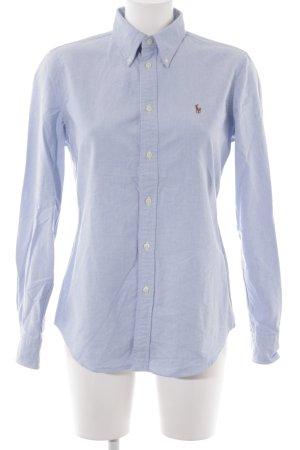 Ralph Lauren Hemd-Bluse himmelblau meliert Business-Look