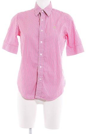 Ralph Lauren Hemd-Bluse pink-weiß Streifenmuster Casual-Look