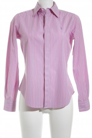 Ralph Lauren Hemd-Bluse rosa-dunkelblau Streifenmuster Business-Look