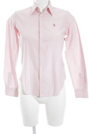 Ralph Lauren Hemd-Bluse rosa-weiß Streifenmuster Business-Look