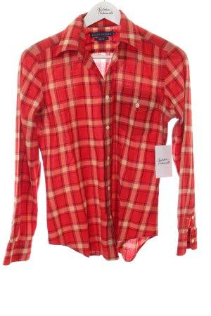 Ralph Lauren Hemd-Bluse rot-creme Karomuster Business-Look