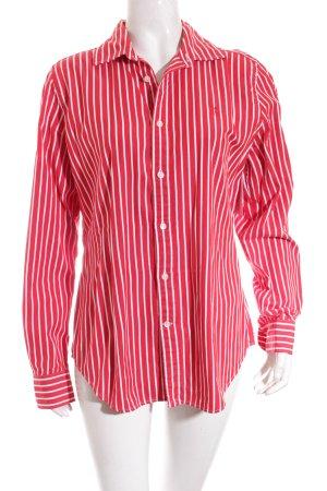 Ralph Lauren Hemd-Bluse rot-weiß Streifenmuster Casual-Look