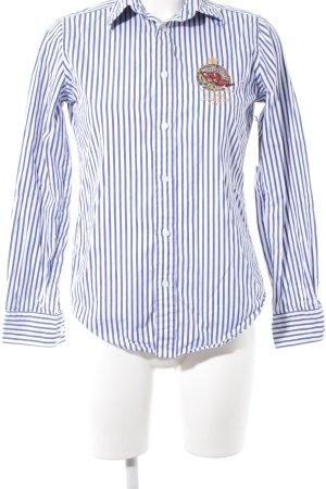 Ralph Lauren Hemd-Bluse weiß-blau Streifenmuster Casual-Look