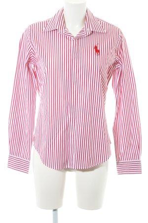 2b302f9e07c82f Ralph Lauren Hemd-Bluse weiß-dunkelrot Streifenmuster Elegant