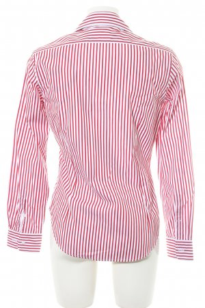 Ralph Lauren Hemd-Bluse weiß-dunkelrot Streifenmuster Elegant