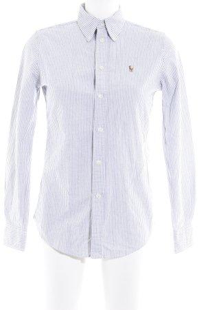 Ralph Lauren Hemd-Bluse weiß-grau Streifenmuster Casual-Look